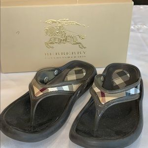 Burberry Flip Flops size 10 B
